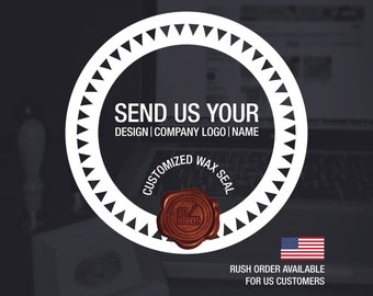 Wax Seal Customized Stamp ; Wedding Invitation Stamp - Custom Wax Stamp - Sealing Wax - Custom wax seal - Wedding Wax Stamp (WS0331)