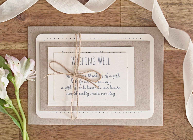 Rustic Wedding Reception Invitations: Rustic Wedding Invitation Suite
