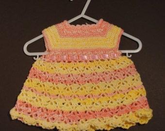 Fiesta baby crochet dress
