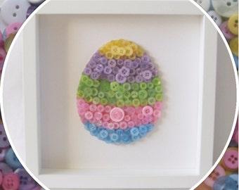 Handmade Easter Egg Button Frame