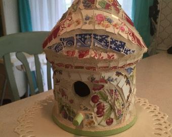 Shabby Chic Mosaic Birdhouse