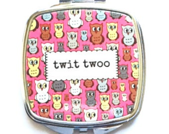 Twit Twoo Owl Pocket Mirror