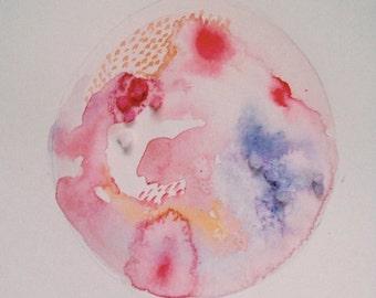 Watercolour Cards : Petri Dish
