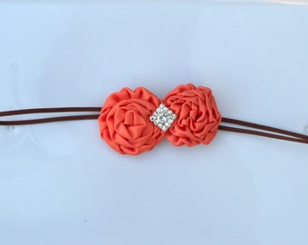 Orange Rosettes Headband
