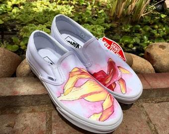 Goldfish Custom Hand-Painted Shoes // Vans or Standard Soes // Fish