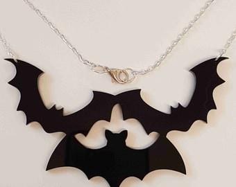 Bat Statement Necklace - Acrylic
