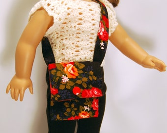 American Girl Doll Clothes, AGD Clothes, 18 inche Doll Clothes, AGD Purse and Shoes, Doll Purse, Doll Shoes, Doll Shoulder Bag, Floral Purse