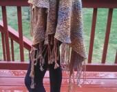 Hand woven tri-loom shawl