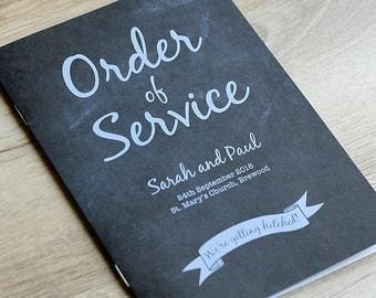 Chalkboard Vintage Order of Service