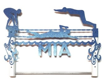 Personalized Swimming Awards Medal/Ribbon Hanger