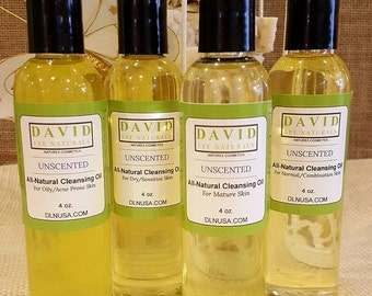 All-Natural Facial Cleansing Oils