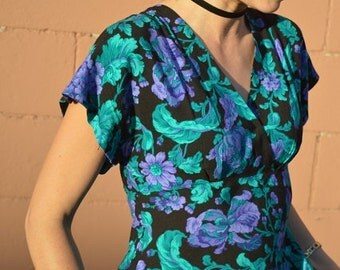 All That Jazz Long Flower Dress with Pockets