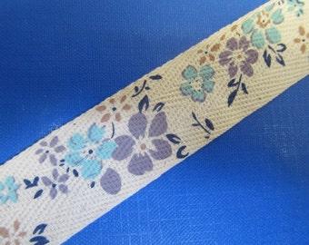 """1 """" (25mm) wide Cotton Floral Super Ribbon Collection -DES -A"""