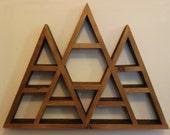FLASH SALE: Triple Peak Triangle Wood Shelf