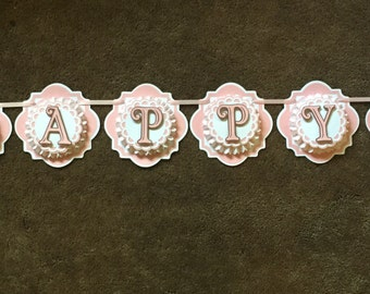 Owl Happy Birthday banner