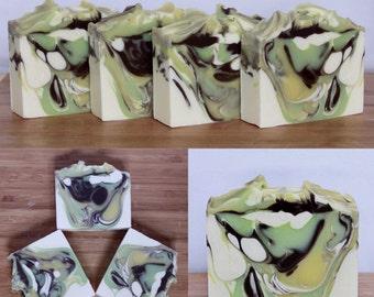 WHITE TEA GINGER Soap   Handmade Natural Soap   Cold Processed   Vegan Friendly 4.5 oz - 5 oz