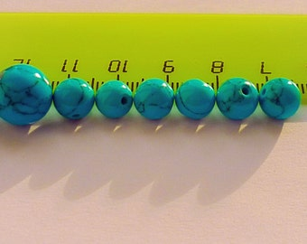 Turquoise beads, bead set, turquoise, polished stone, natural stone,