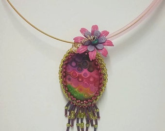 Pretty in pink...... and lime Necklace