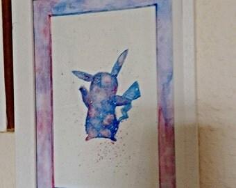 "original pokemon Pikachu painting ""framed"""