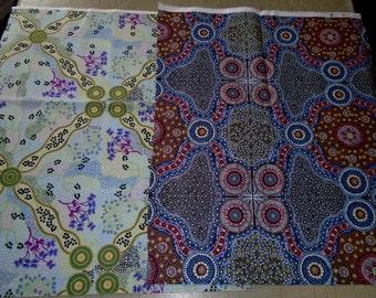 2 Fat Quarters, Australain Dreamtime Fabrics