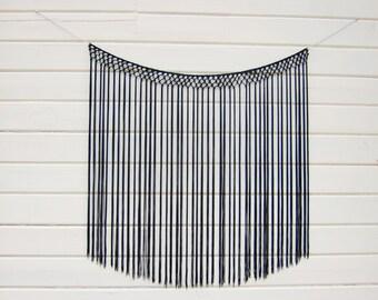 black hanging,black wall hanging,black tapestry,black wall art,black boho decor ,black decor