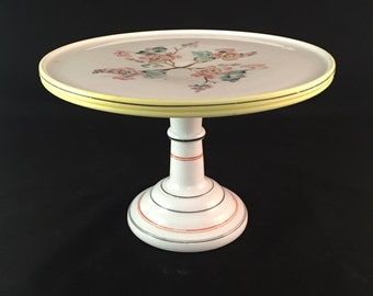 SALE - Vintage Ceramic Cake Stand - Shabby Chic Style