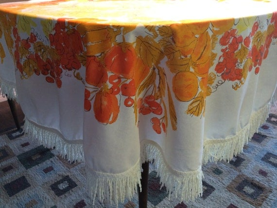 Vera Neumann Tablecloth with 4 Napkins - Vintage Table Linens