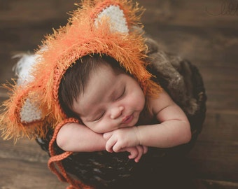 Baby Fox Outfit - First Halloween Costume - Fox Tail Costume - Baby Halloween Costume - Woodland Nursery - Newborn Picture Outfit