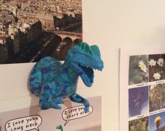 Dilophosaurus dino magnet/ dino magnet/ jurassic park magnet/ cool gift