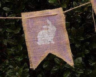 Easter Bunny Banner, Bunny banner, Burlap Baby Shower, Girl Nursery, Baby Shower Bunny, Rustic Baby Shower, Baby Shower Banner, Easter