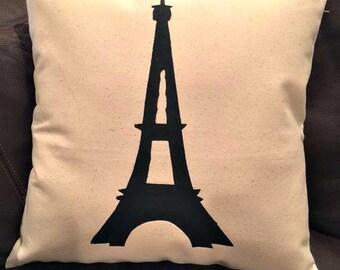 Eiffel Tower/Effiel Tower Pillow/Throw Pillows/Pillows/Pillow Cover/Decorative Pillow/France/Paris