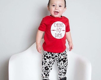 Cheeks For Days Toddler Tee/Onesie, bodysuit, funny, baby girl, baby boy, coming home outfit