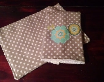 Flannel Burp Cloth Set
