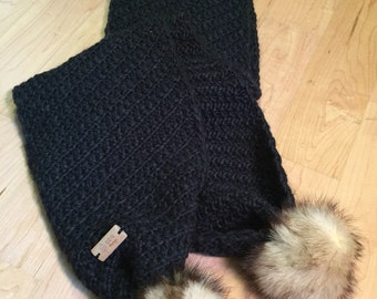 Scarves, real fur scarf Wildcat ( Recycled )  .