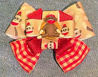 Sock Monkey Bow