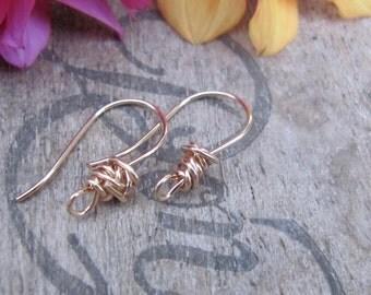 Gold Earrings, 14k Gold Filled Earrings, Wirework Jewelry