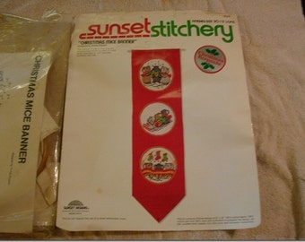 Christmas Banner Embroidery  Love And Joy Embroidery Sunset Stitchery Embroidery Banner Holiday Banner