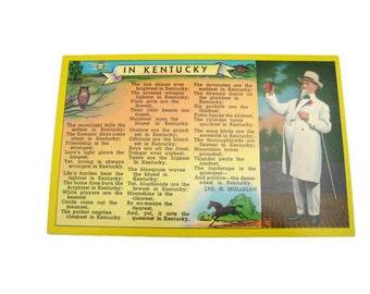 In Kentucky  Postcard Kentucky  Postcard Paper Ephemera Unused Vintage Postcard