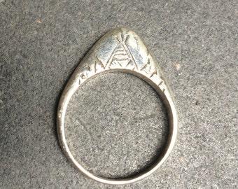 Silver ring - Tuareg design - handmade in Cairo