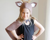 XL PATTERN BUNDLE - 5 costumes sewing tutorial: Reindeer kitten Easter bunny Fox Raccoon mask children kids holiday Purim Halloween gift