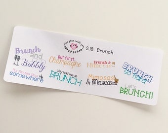 S28 || 8 Brunch Quote Stickers