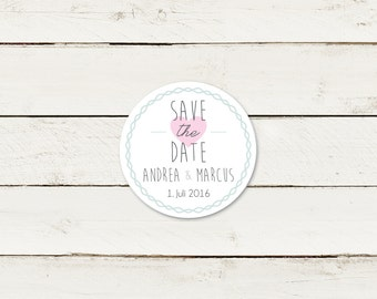 Save the date | Magnet | Round | No 1