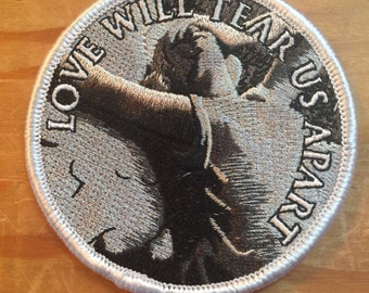 """Love Will Tear Us Apart Joy Division Ian Curtis Factory Records embroidered patch 3"""""""