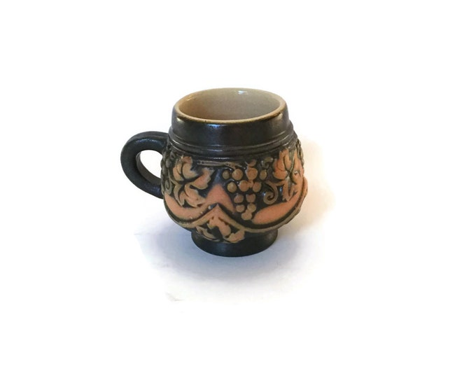 CLEARANCE Mulled Wine Stein with Grape Motif