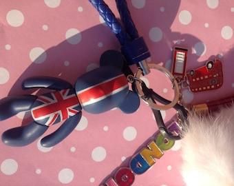 Kawaii London Bear Keychain