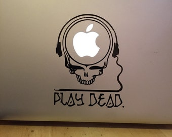 Apple Macbook play dead  Vinyl Sticker