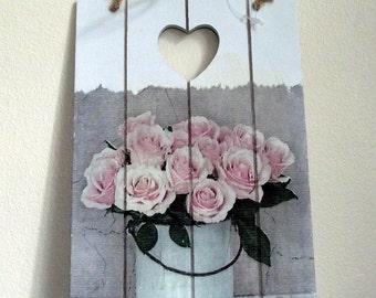 Rose design Wall Hanging Plaque