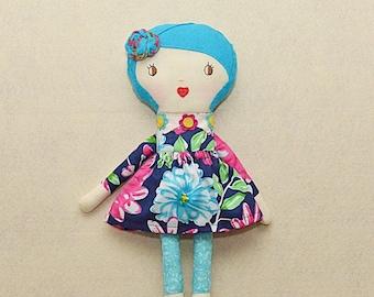 Fabric Rag Doll Handmade Rag Doll Cloth Doll Old Fashion Rag Doll Fabric Doll