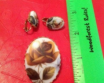 Pin and clip on earrings