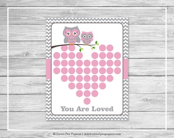 Owl Baby Shower Guest Book - Printable Baby Shower Guest Book - Pink Owl Baby Shower - Baby Shower Guest Book - Owl Guest Book - SP134